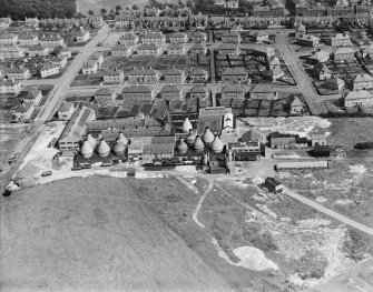 Shanks and Co. Ltd. Longpark Pottery Works, Kilmarnock.  Oblique aerial photograph taken facing east.
