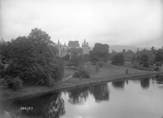 Inveraray Castle. General view from Aray Bridge.