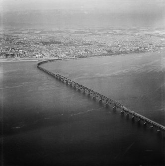 Tay Bridge, Dundee.  Oblique aerial photograph taken facing north.