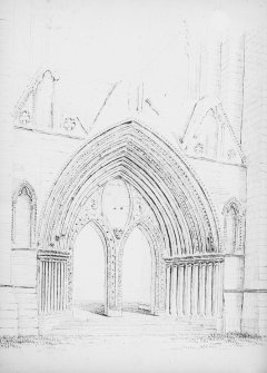 Drawing showing detail of doorway.