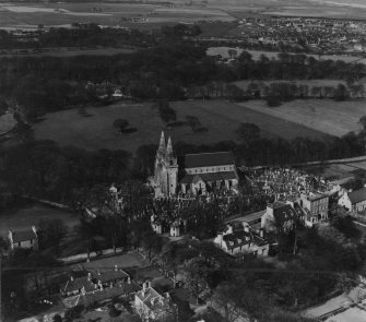 St Machar's Cathedral, The Chanonry and Seaton Park, Aberdeen.  Oblique aerial photograph taken facing north-east.  This image has been produced from a print.
