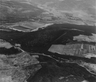 The Knock and Loch Ullachie, Balmoral Estate.  Oblique aerial photograph taken facing north.  This image has been produced from a print.