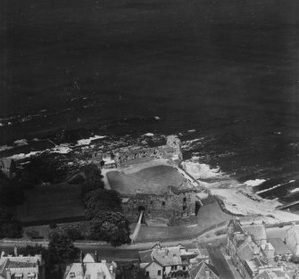 St Andrews Castle.  Oblique aerial photograph taken facing north-east.  This image has been produced from a print.