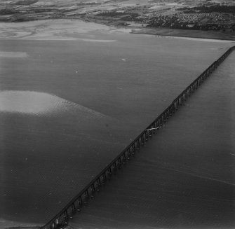 Tay Bridge, Dundee.  Oblique aerial photograph taken facing north-west.  This image has been produced from a print.