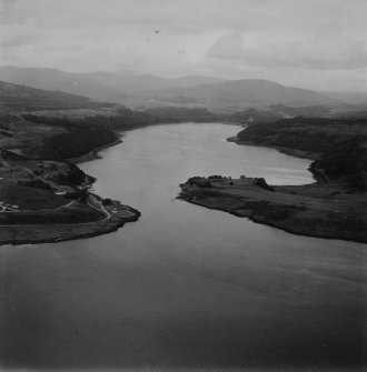Loch Aline, general view.  Oblique aerial photograph taken facing north-east.  This image has been produced from a print.