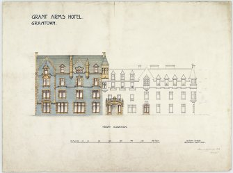 Front elevation, inscr; 'Grant Arms Hotel.  Grantown' 500 x 600
