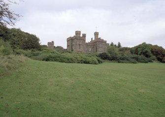 General view of Lews Castle, Stornoway, taken from the south.