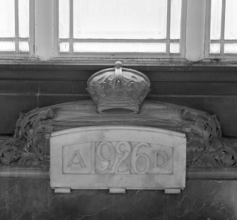 Interior. Ground floor. Foyer. Datestone. Detail