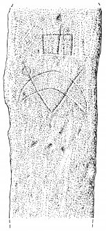 Measured drawing of symbol stone from Earl's Bu, Orphir (no 2).