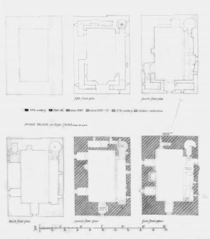 First, Second, Third, Fourth, Fifth Floor plans of Tower
