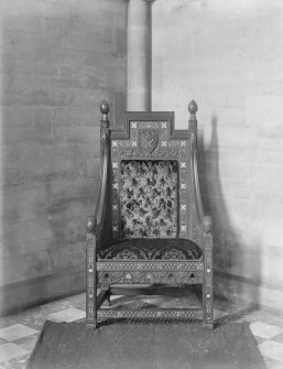 View of bishop's chair, St Mary's Episcopal Cathedral, Edinburgh.