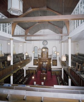 Interior. View from gallery towards pulpit