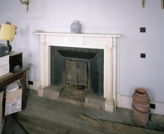 Interior. Ground floor. Drawing room. Detail of fireplace