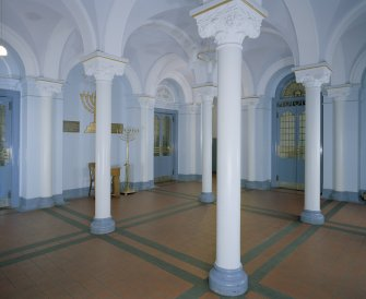 Interior. View of entrance hall from N