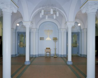 Interior. View of entrance hall from NW