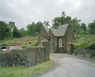 General view from NE showing gate posts