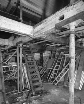 Interior, basement with ground floor above.