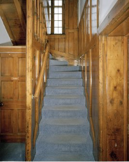 Interior. View of stair from E