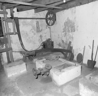 Interior. Views of surviving machinery