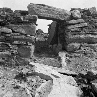 View of Ness of Burgi blockhouse entrance.