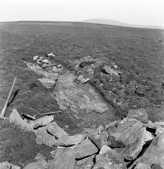 Excavation of rampart at Ness of Burgi.