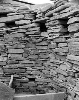 House 7; detail of stonework.