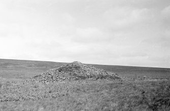 North Muir Upper Cairn. View of cairn from ESE.