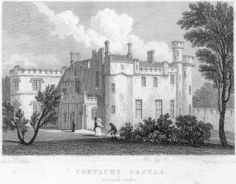 View of Cortachy Castle.