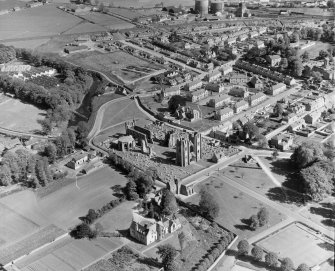 General View St Andrews-Lhanbryd, Morayshire, Scotland. Oblique aerial photograph taken facing South/East.
