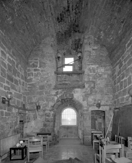 Tower, view of first floor Great Hall from West