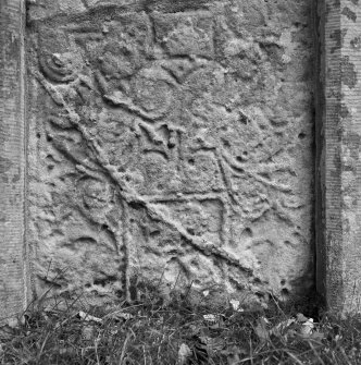Front detail of the Princess Stone Pictish cross slab, Glenferness.