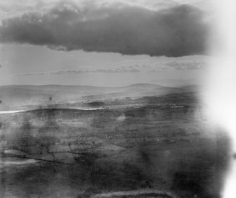 Bankend, Caerlaverock, Dumfries-shire, Scotland 1929. Oblique Aerial photograph, taken facing west.