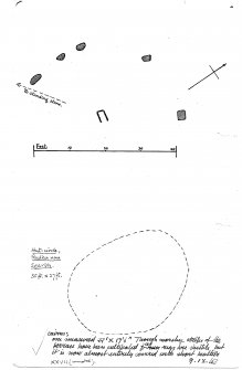 Sketch plans (extract from manuscript)