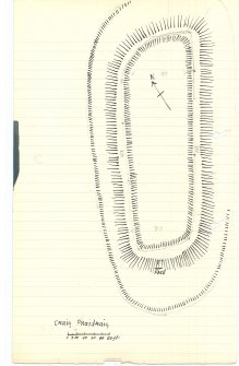Sketch plan of Craig Phadrig (extract from manuscript)