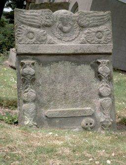 View of headstone to John Duncan 1777, Kilconquhar Old Parish Churchyard.
