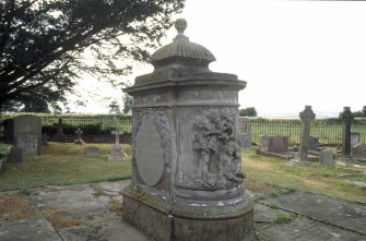 View of monument, Ballantrae Old Parish Churchyard.