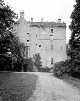 Delgatie Castle. General view from SSW.