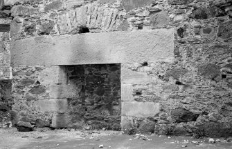 Glenbuchat Castle. Interior. Detail of lintel in room over kitchen.