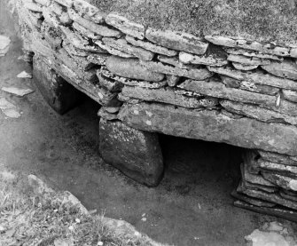 View of exterior wall, Skara Brae.