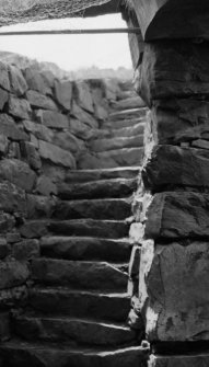 View of stairs at Dun Beag Broch, Struanmore, Isle of Skye.