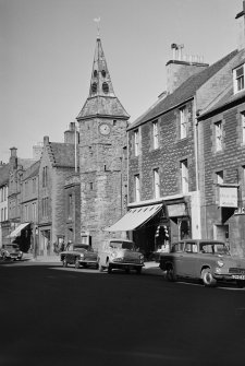 General view of Town House and High Street, Dunbar, from S.