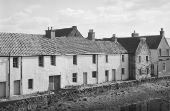 View of Waterside Cottages, Haddington, from W.