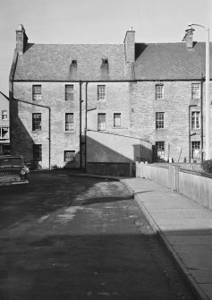 View of rear elevation of 1-3, and 5 High Street, Thurso.
