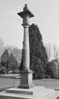 General view of Mercat Cross, Duns