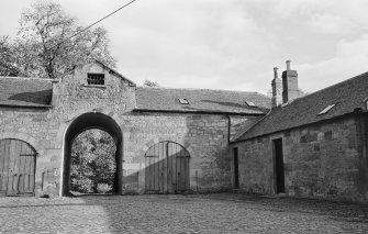 View of stable courtyard, Tweedhill