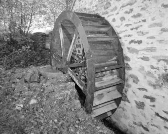 View of waterwheel from South.