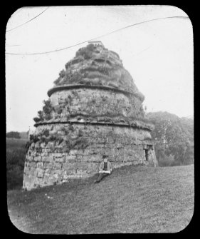 View of dovecot at Aberdour Castle from NE