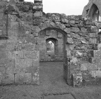 Fearn Abbey.  Ross aisle, view of doorway from East.