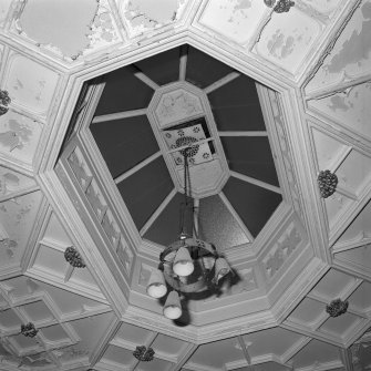 Detail of west stair hall cupola