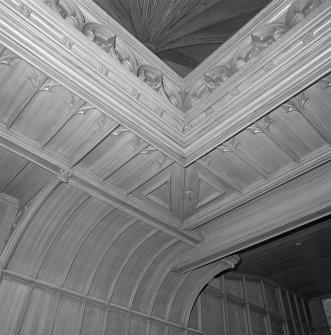 Detail of underside of gallery